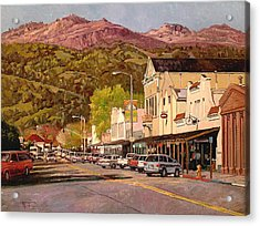 Our Town Acrylic Print by Paul Youngman