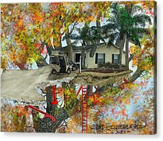 Our Tree House Acrylic Print by Jim Hubbard