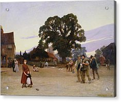 Our Village Acrylic Print by Hubert von Herkomer