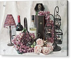 Our Wine Cellar Acrylic Print by Sherry Hallemeier