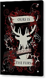 Acrylic Print featuring the digital art Ours Is The Fury by Christopher Meade