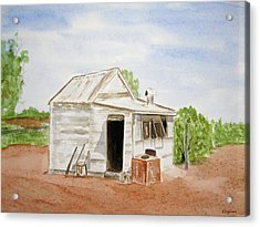 Out Back Kalgoorlie Western Australia Acrylic Print by Elvira Ingram