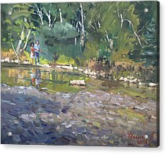 Out Fishing With Viola  Acrylic Print by Ylli Haruni