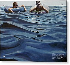 Out Of The Blue Acrylic Print by Deb Putnam