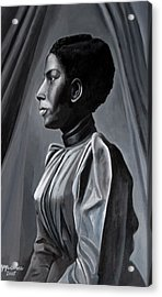 Out Of The Box Woman In Shirtdress Acrylic Print by Joyce Owens