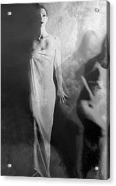 Out Of The Fog - Self Portrait Acrylic Print by Jaeda DeWalt