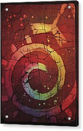 Out Of The Reds No.6 By Enialis Acrylic Print by Enialis Best Silk
