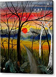 Acrylic Print featuring the painting Out Of The Woods by Renate Nadi Wesley