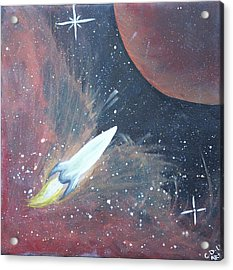 Out Of This World Acrylic Print by Cyrionna The Cyerial Artist