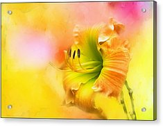 Out Of Yellow Acrylic Print