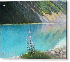 Out On Lake Louise Acrylic Print by Bonita Waitl