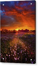 Out On The Edge Of Day Acrylic Print by Phil Koch