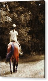 Out On The Trail Acrylic Print by JAMART Photography