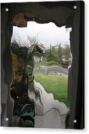 Out The Window Acrylic Print by Eileen Shahbazian