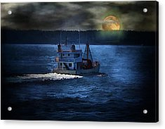 Acrylic Print featuring the photograph Out To Sea by Gary Smith