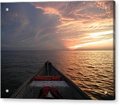 Acrylic Print featuring the photograph Out To Sea by Nancy Taylor