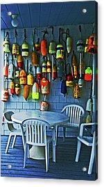Outdoor Cafe, Block Island, Ri Acrylic Print