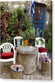 Outdoor Spot Greece Mesta Acrylic Print