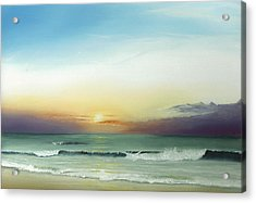 Acrylic Print featuring the painting East Coast Sunrise by Albert Puskaric