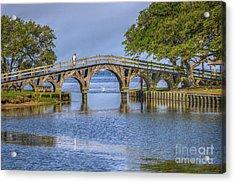 Outer Banks Whalehead Club Bridge  Acrylic Print by Randy Steele
