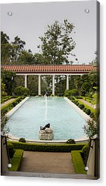 Outer Peristyle Pool And Fountain Getty Villa Acrylic Print