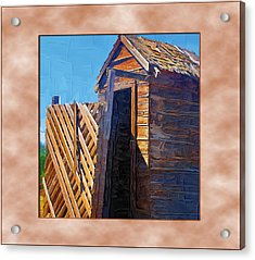 Acrylic Print featuring the photograph Outhouse 2 by Susan Kinney