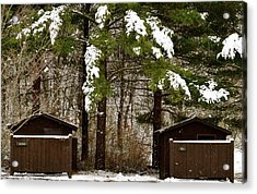 Outhouses In The Cold Acrylic Print
