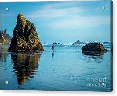 Outing In Ruby Beach,wa Acrylic Print