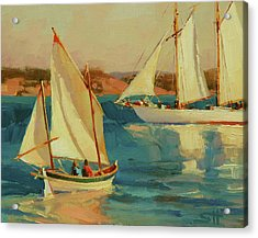 Acrylic Print featuring the painting Outing by Steve Henderson