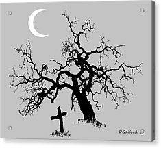 Outlaw Grave Acrylic Print by Dave Gafford