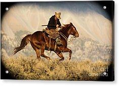 Outlaw Kelly Western Art By Kaylyn Franks Acrylic Print