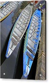 Outrigger Canoe Boats Acrylic Print by Ben and Raisa Gertsberg
