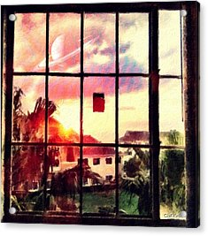 Outside My Window... Acrylic Print by Carlos Avila