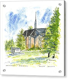Outside The Sanctuary At Westminster Presbyterian Chuch Acrylic Print