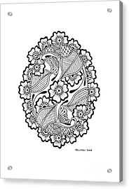 Oval Lace Acrylic Print