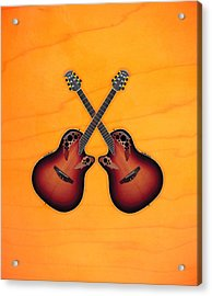 Ovation Acoustic Guitar Acrylic Print by Doron Mafdoos