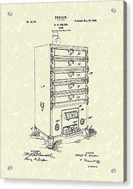 Oven Design 1900 Patent Art Acrylic Print