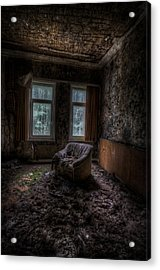 Over Looked Sofa Acrylic Print by Nathan Wright