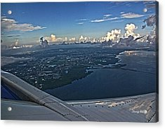 Over Tampa Acrylic Print by Chauncy Holmes