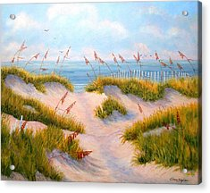 Over The Dunes Acrylic Print by Elaine Bigelow