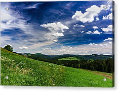 Acrylic Print featuring the photograph Over The Green Hills by Dmytro Korol