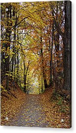 Over The Hill And Through The Woods In Autumn Acrylic Print