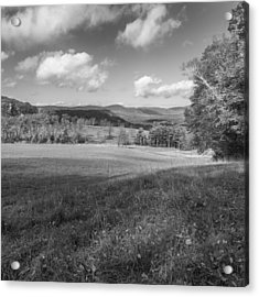 Over The Hills Square Bw Acrylic Print