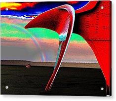 Over The Rainbow Acrylic Print by Tim Allen