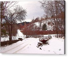 Acrylic Print featuring the photograph Over The River by Betsy Zimmerli