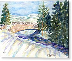 Over The River... Acrylic Print by Mary Benke