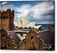 Acrylic Print featuring the photograph Over The Roof Tops by Perry Webster