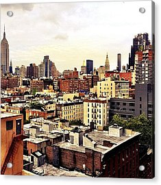 Over The Rooftops Of New York City Acrylic Print by Vivienne Gucwa