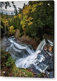 Over The Top - Laughing Whitefish Falls Acrylic Print