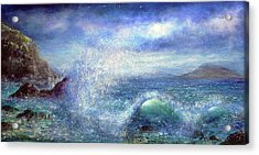 Over The Waves Acrylic Print by Ann Marie Bone